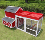 Merry Products Red Barn Chicken Coop with Roof Top Planter (6-8 hens)