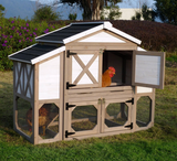 Country Style Chicken Coop with Metal Nest Box & Asphalt Roof Panels (3 to 4 hens) by Merry Products
