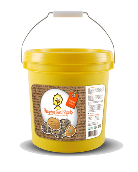 Treats for Chickens - Pumpkin Seed Snacks 80 oz Bucket - That Chicken Coop