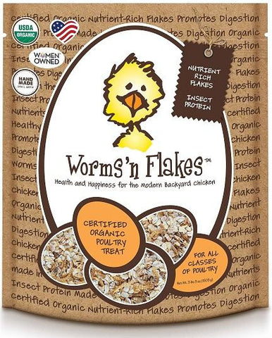 Treats for Chickens - Worms'n Flakes - That Chicken Coop