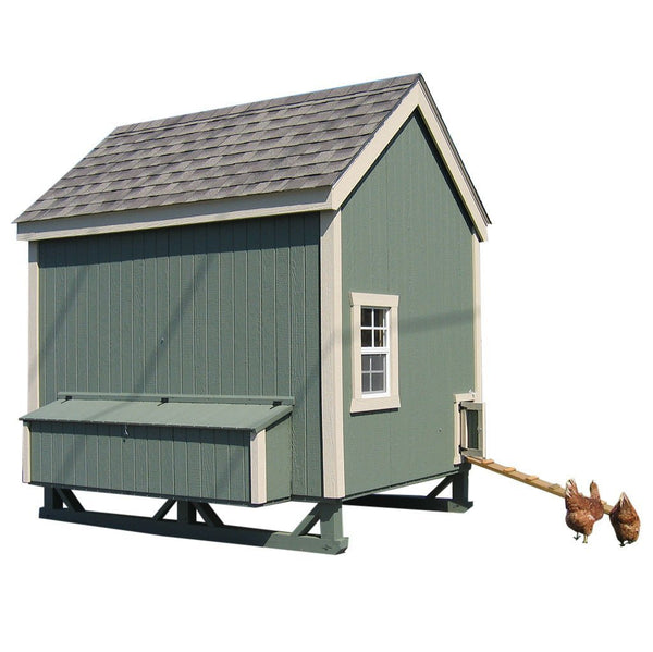 Little Cottage Co 6x8 Colonial Gable Coop (8-12 hens) - That Chicken Coop