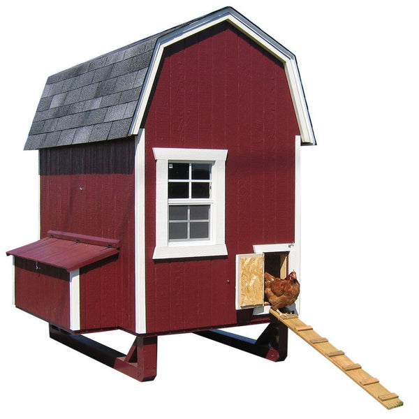 Little Cottage Co Gambrel 4x6 Barn Coop with Nesting Box and Ramp (6-8 hens) - That Chicken Coop