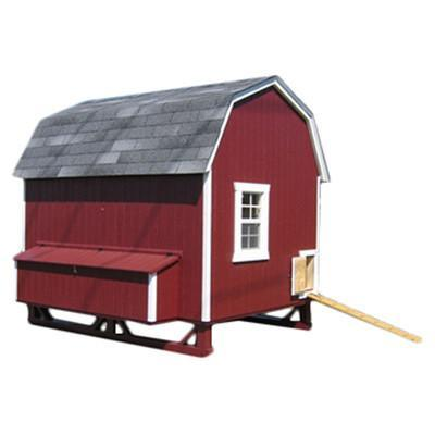 Little Cottage Co Gambrel 6x8 Barn Coop with Nesting Box and Ramp (8-12 hens) - That Chicken Coop