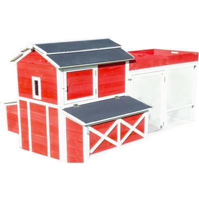 Merry Products Red Barn Chicken Coop with Roof Top Planter (6-8 hens) - That Chicken Coop