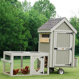 Little Cottage Co 4x4 Colonial Gable Run Coop with Wheels (5-6 hens) - That Chicken Coop