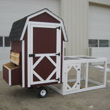 Little Cottage Co 4x4 Gambrel Barn Run Coop with Wheels (5-6 hens) - That Chicken Coop