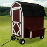 Little Cottage Co 4x6 Barn Coop with Wheels (5-6 hens) - That Chicken Coop
