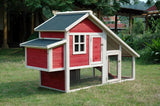 Merry Products Red Habitat Chicken Coop with Nesting Box (2-4 hens) - That Chicken Coop
