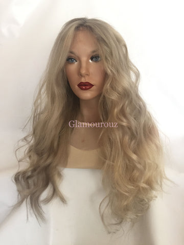 Light Ash Blond Balayage Full Lace Wig - Heather