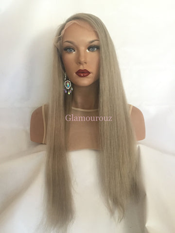 Light Ash Blond Balayage Full Lace Wig - Ginger