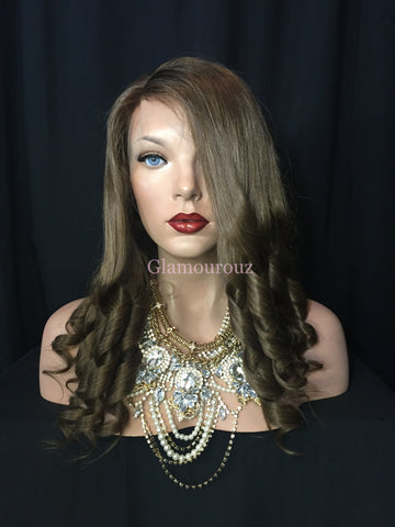 Light Brown Full Lace Wig - Nicole