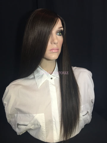Dark Brown Full Lace Wig - Stephanie