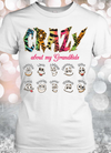 Colorful Crazy Grandma Personalized T-shirts Hoodie Sweatshirts