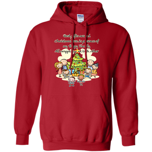 Family around Christmas tree Personalized Hoodie Sweatshirts
