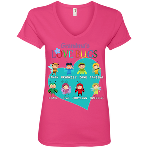 LOVE BUGS Ladies' V-Neck Tee - Gifts4family