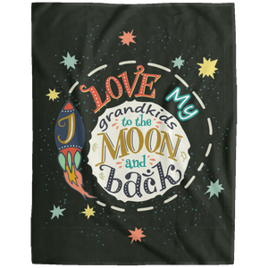 Moon And Back - Personalized Blanket