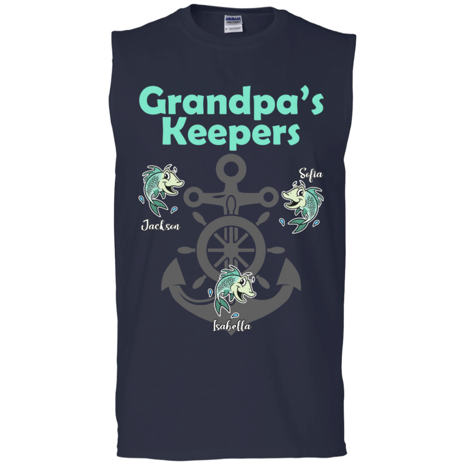 Grandpa's Keepers Personalized T-shirts