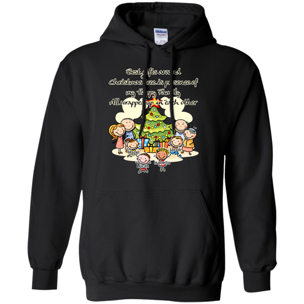 Family around Christmas tree Sweatshirts/Hoodies