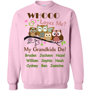 Whooo Loves me Personalized T-shirts Hoodie Sweatshirts