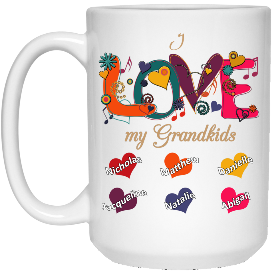 Love My Grandkids - Personalized Mugs