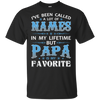 Papa is my Favorite Personalized T-shirts
