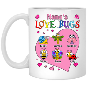 LOVE BUGS - PINK HEART MUGS