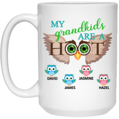 Grandkids are a HOOT!! Mugs - Gifts4family