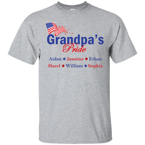 Grandpa's pride Personalized T-shirts
