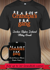BUNDLE - Grandpa's Gang! T-Shirt with 11 oz MUG-Black - Gifts4family