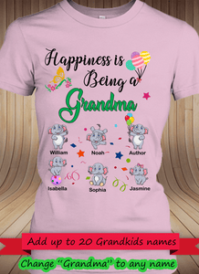 Happiness is being a Grandma Personalized T-shirts Hoodie Sweatshirts