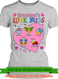 Grandmas Love Bugs Personalized T-shirts Hoodie Sweatshirts