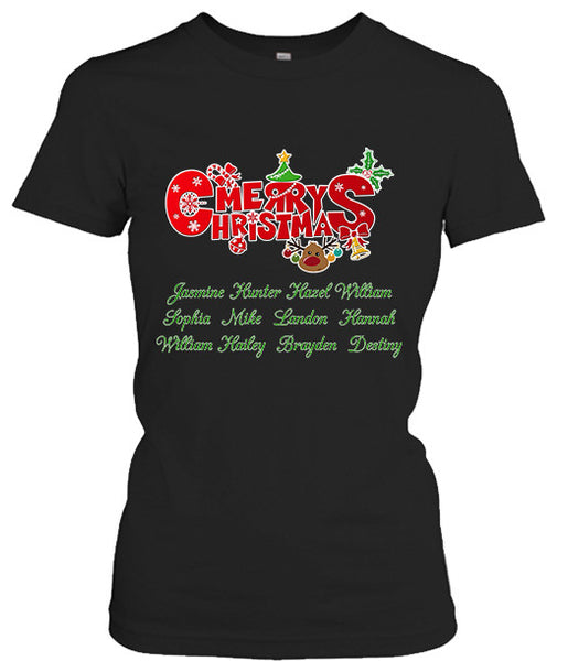 Merry Christmas - Black - Gifts4family