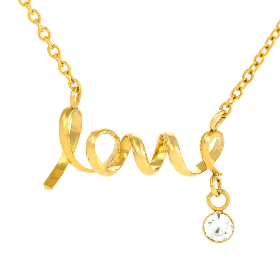 I Love You MOM...I DO - Scripted Love Necklace