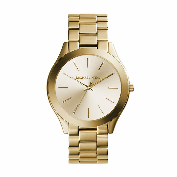 Michael Kors Runway Slim Light Champagne Dial Gold Women Watch