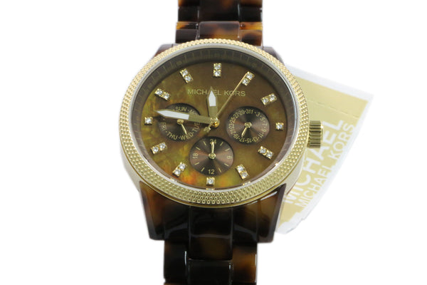 Michael Kors Jet Set Brown Analog Crystal Quartz Women's Watch