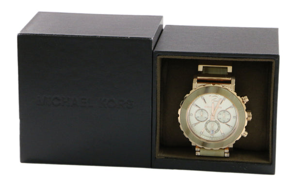 Michael Kors Lille Rose Gold Tone Sand Chrono Watch
