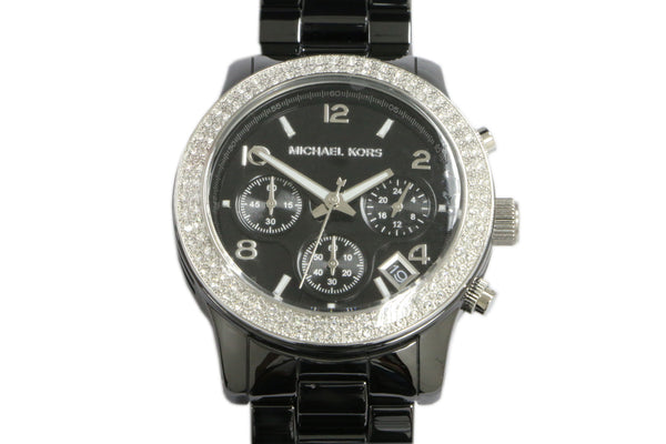 Michael Kors Black Ceramic Runway Glitz Chronograph Watch