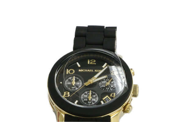 Michael Kors Black Dial Gold-tone Bracelet Women's Watch