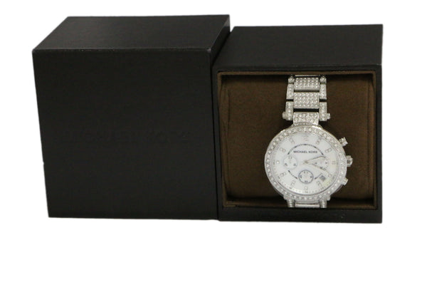 Michael Kors Pave Crystal Parker Watch