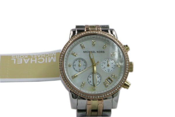 Michael Kors Ritz Chronograph Watch, Light Tricolor