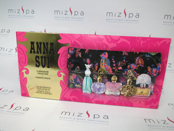 Anna Sui Miniature collection 5pcs set + Cosmetic Pouch