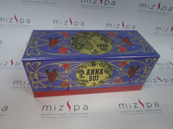 Anna Sui Miniature Collection EDT 5 Pcs Set - Secret Wish EDT 4ml; La Vie De Boheme EDT 4ml; Romantica EDT 4ml; La Nuit De Boheme EDT 4ml; Flight of Fancy EDT 4ml