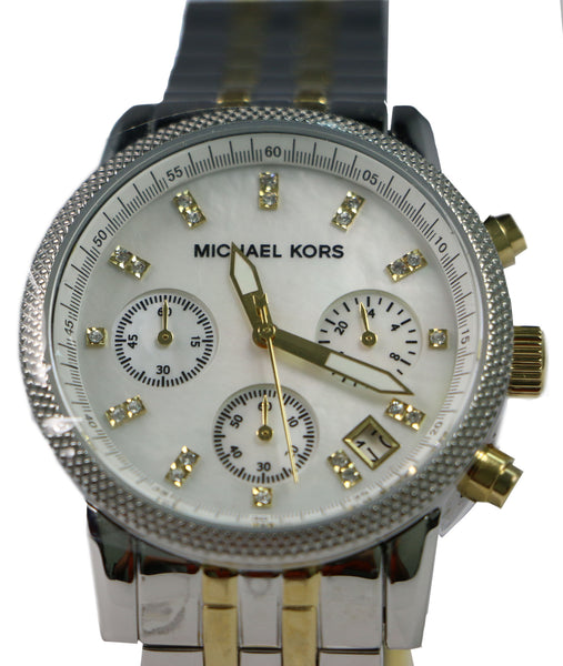 Michael Kors MK5057 Gold and Silver Two-tone Bracelet Women Watches