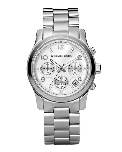 Michael Kors Silver Midsized Chrono Ladies Watch