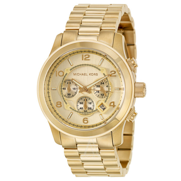 Michael Kors Gold Chronograph Oversized Watch