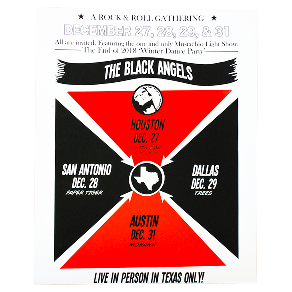 The Black Angels - Texas Tour Winter 2018 Poster