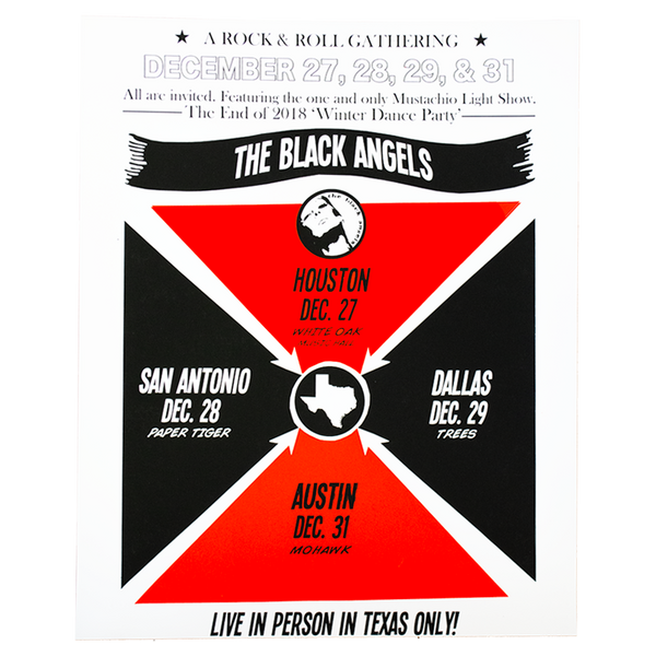 The Black Angels - 2018 Tour of Texas Poster