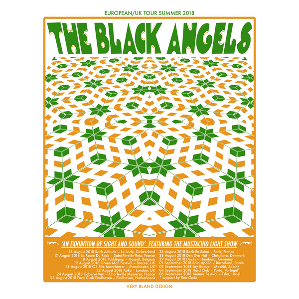 The Black Angels - 2018 European Tour Poster