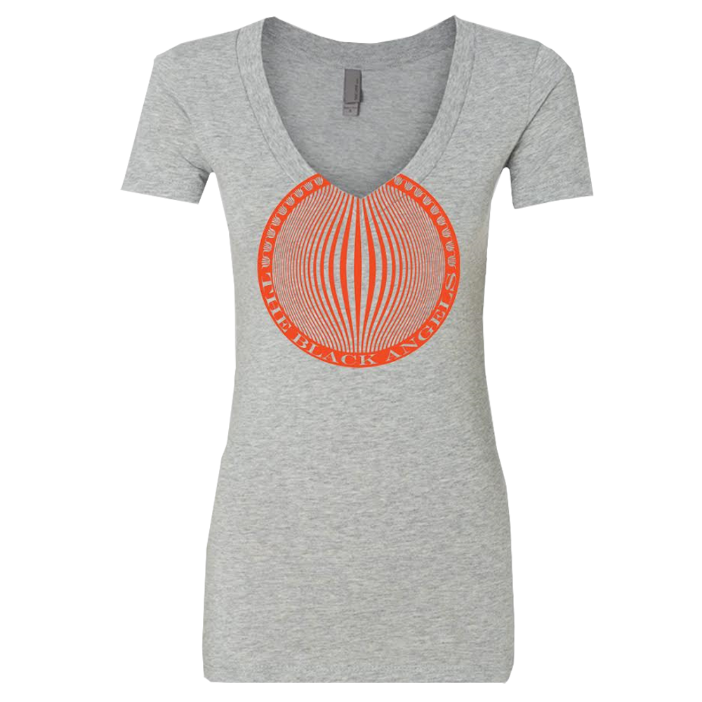 The Black Angels Orb Ladies V-Neck T-Shirt