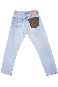 Reworked Vintage Levi's 501 x Louis Vuitton Denim Jeans